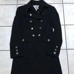 Marvin Richards wool nautical military long coat
